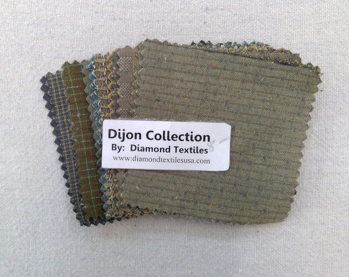 Dijon Collection...charm pack...3 1/2 inch squares...21 squares...Diamond Textile Wovens