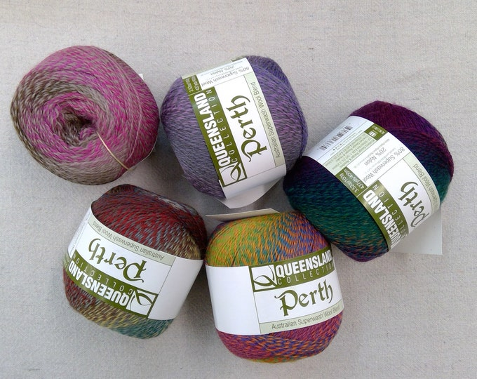 Queensland Collection...Perth...Australian Superwash Wool Blend...superwash wool/nylon...superfine...5 colors