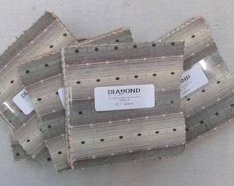 Nikko A...charm pack...5 inch squares...32 squares...Diamond Textile Wovens