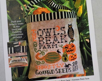 Halloween Seed Sack by Carriage House Samplings...cross-stitch design