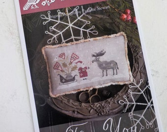 For You by Plum Street Samplers...cross stitch pattern, Christmas cross stitch, winter cross stitch