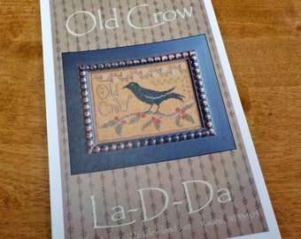 Old Crow by La-D-Da...cross stitch pattern