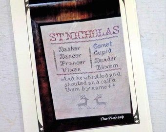 St. Nicholas sampler by The Pinkeep...cross stitch pattern