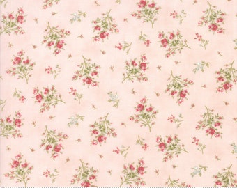 Rue 1800 44227-12 Rose floral by 3 Sisters for Moda Fabrics