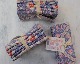 Bon Voyage Blue Large prints...5 fat quarters...a Tilda Collection designed by Tone Finnanger