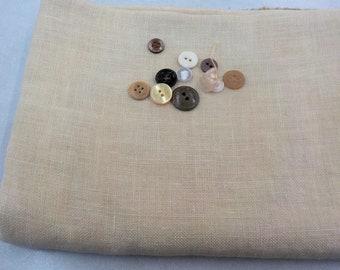Weeks Dye Works, Parchment, 32ct, Fat Quarter, 100% linen, cross stitch linen