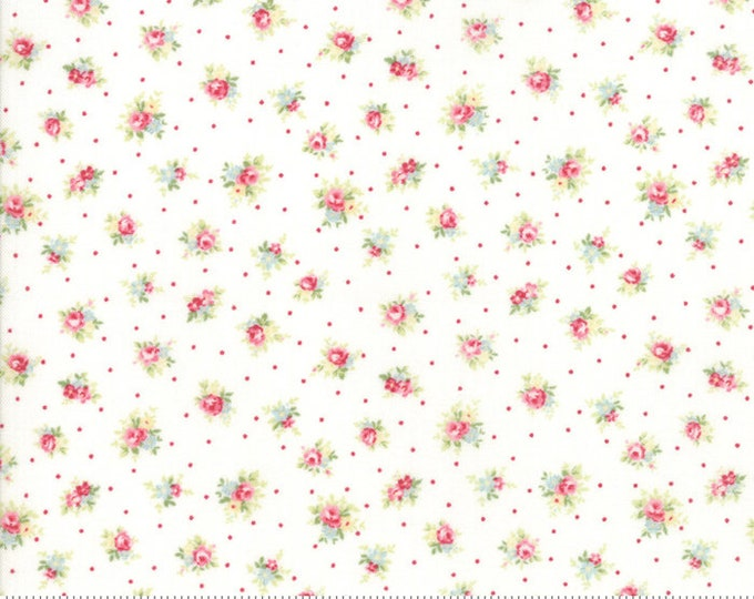 Amberley 18671 12 linen white by Brenda Riddle Designs for Moda Fabrics
