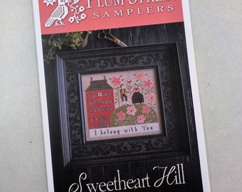 Sweetheart Hill by Plum Street Samplers...cross stitch pattern, house cross stitch