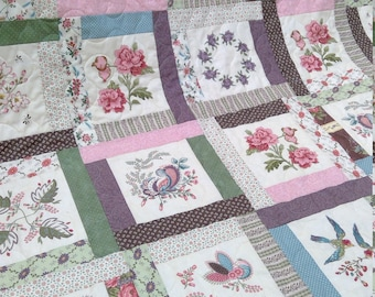 Verandah quilt kit...designed by Mickey Zimmer for Sweetwater Cotton Shoppe...featuring County Clare by Karen Styles