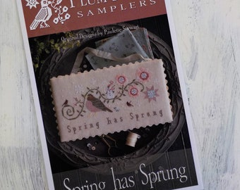 Spring has Sprung by Plum Street Samplers...cross stitch pattern, cross stitch