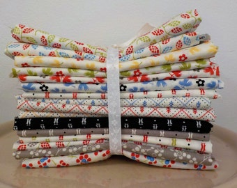 Fig Shirtings...16 fat quarters of Shirtings and Figs...designed by Fig Tree Quilts