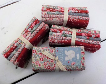 Woodland red and grey fat quarter bundle...a Tilda Collection designed by Tone Finnanger...5 fat quarters