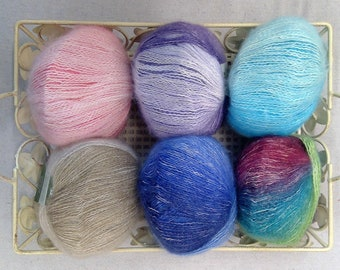 Queensland Collection...Uluru Rainbow...Colorful Cotton Blend...6 colors...yarn
