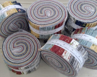 Memoirs by 3 Sisters for moda fabrics...jelly roll...40--2 1/2 inch strips...precut