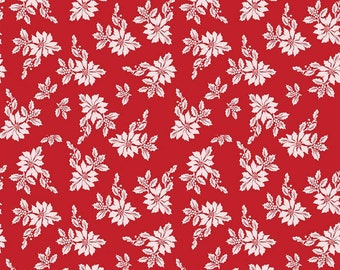 Santa Claus Lane Poinsettias Red C9611-RED designed by Polka Dot Chair for Riley Blake Designs