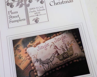 Hares' Christmas by Plum Street Samplers...cross stitch pattern, Christmas cross stitch, winter cross stitch