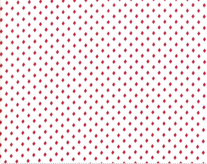 Merry Merry Snow Days Snow Red 2948 16 designed by Bunny Hill Designs for Moda Fabrics
