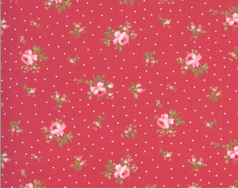 Sophie Medium Floral Rosey 18711 13 by Brenda Riddle for Moda Fabrics