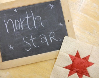 Week 1 North Star...Christmas Morning Quilt Along...PDF block pattern