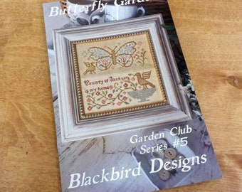 Butterfly Garden, Garden Club Series #5, by Blackbird Designs...cross-stitch design