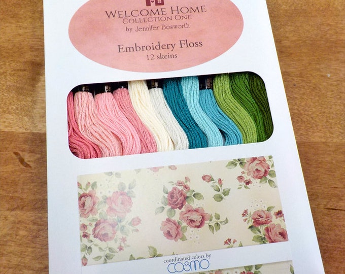 Welcome Home by Jennifer Bosworth...embroidery floss designer pack, 12 skeins, Cosmo threads, Lecien