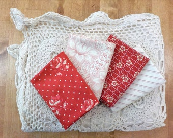 Farmhouse Reds...4 fat quarter bundle...by Minick and Simpson for Moda Fabrics