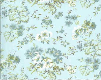 Dover Field Floral Sea Glass 18700 15 by Brenda Riddle for Moda Fabrics