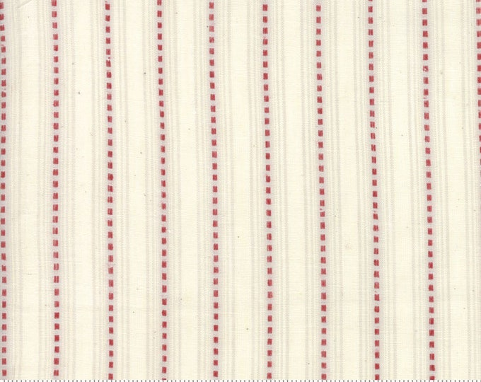 Snowberry Dobby Stripe Snow 12024 24 by 3 Sisters for moda fabrics