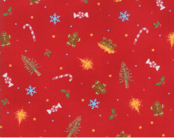 Good Tidings Berry Red 18660-12 by Brenda Riddle for moda fabrics