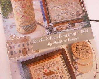 Maria Selby Humphrey - 1831 by Blackbird Designs...cross-stitch design