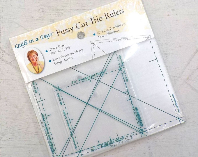 Fussy Cut Trio Rulers by Quilt in a Day...3 rulers