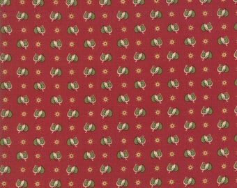 Glad Tidings Turkey Red 38098 11 by Jo Morton for Moda Fabrics