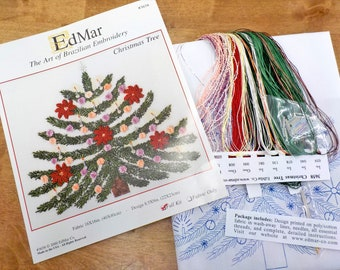 Christmas Tree #3658...EdMar kit...Brazilian embroidery...christmas kit...christmas embroidery