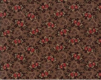 Harriet's Handwork 1820-1840 Chocolate Fudge 31577 15 by Betsy Chutchian for Moda Fabrics