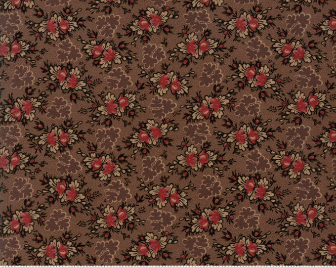Harriet's Handwork 1820-1840 Chocolate Fudge 31577 15 by Betsy Chutchian for Moda Fabrics