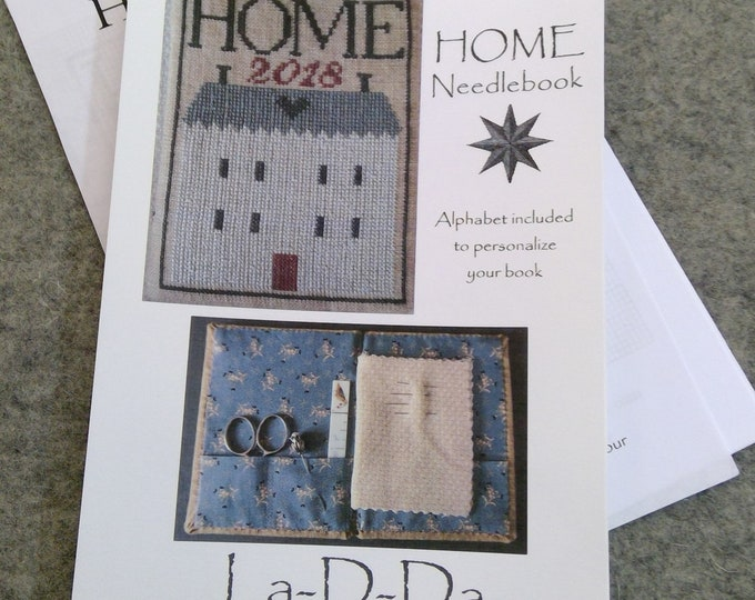 HOME Needlebook by La-D-Da...cross stitch pattern