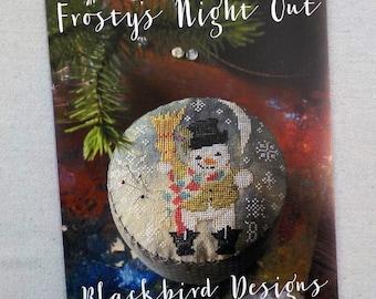 Frosty's Night Out by Blackbird Designs...cross stitch pattern, cross stitch