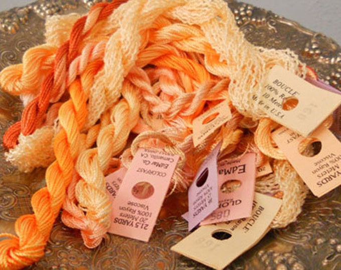 Peaches and Cream Thread Pack of 10 skeins of Edmar Thread.