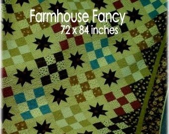 PDF Farmhouse Fancy pattern using Fig Tree by Mickey Zimmer for Sweetwater Cotton Shoppe