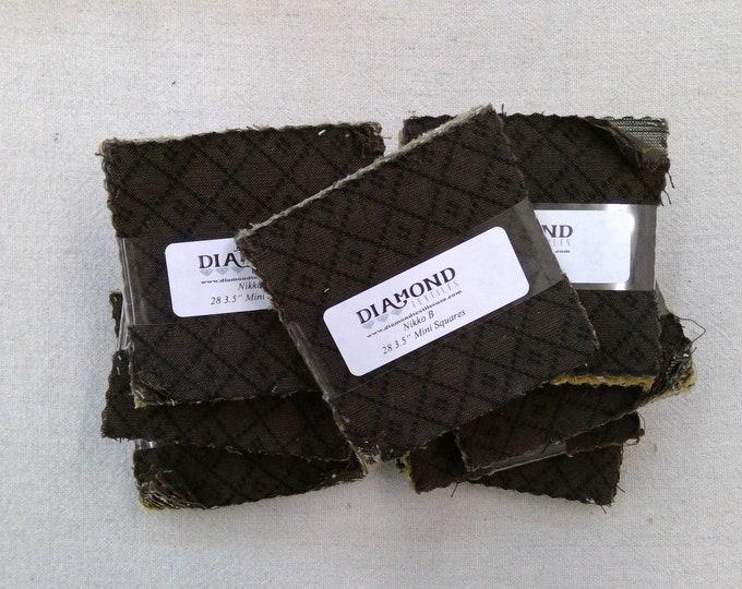 Nikko B...charm pack...3 1/2 inch squares...28 squares...Diamond Textile Wovens
