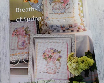 Breath of Spring...3 pitcher/flower designs...by Meg Hawkey of Crabapple Hill Studio
