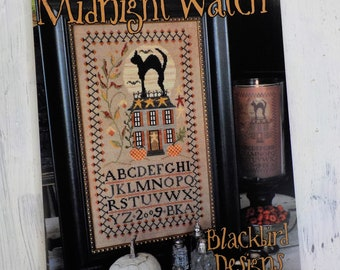 Midnight Watch by Blackbird Designs...cross-stitch design, halloween cross stitch