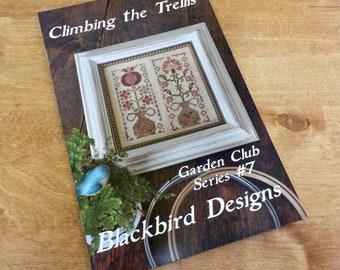 Climbing the Trellis, Garden Club Series #7, by Blackbird Designs...cross-stitch design