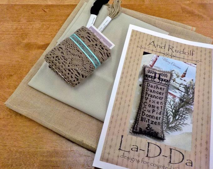 And Rudolf by La-D-Da...cross stitch kit...kit complete
