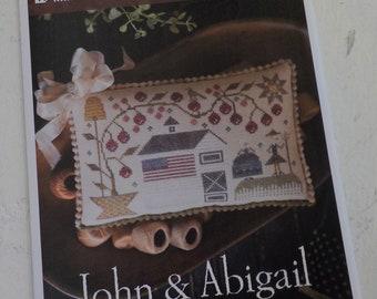 John and Abigail by Plum Street Samplers...cross stitch pattern, house cross stitch