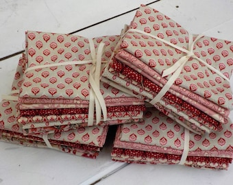Chafarcani 8 fat quarters by French General for moda fabrics