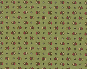 Glad Tidings Poison Green 38098 12 by Jo Morton for Moda Fabrics