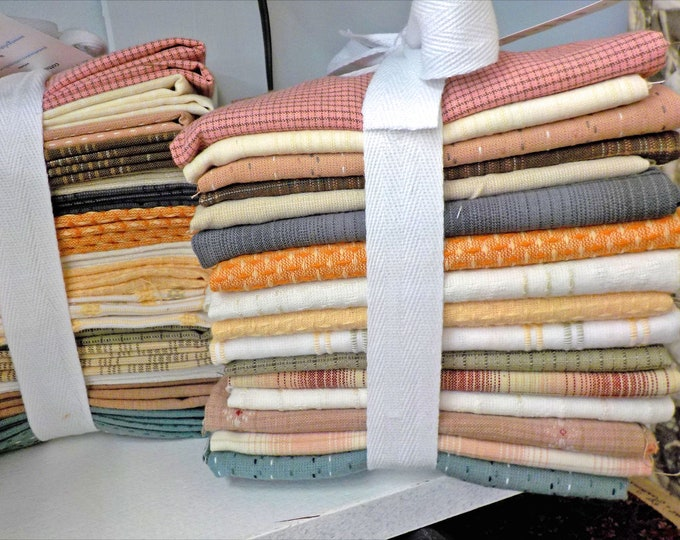 Dress Shirt Wovens #2, Fat Quarter bundle, exclusive grouping of Diamond Textile Wovens, 16 fat quarters
