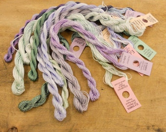 Lavender and Sage Thread Pack of 10 skeins of Edmar Thread.