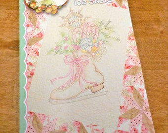Vintage Ice Skate pattern by Meg Hawkey of Crabapple Hill Studio